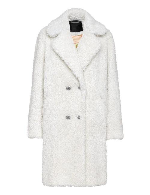 Philipp Plein Coat Long Iconic Cream