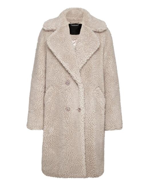 Philipp Plein Coat Long Teddy Bear Beige